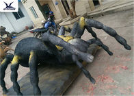 Simulation Waterproof Animatronic Animals Spider Statues For Amusement Park Decoration
