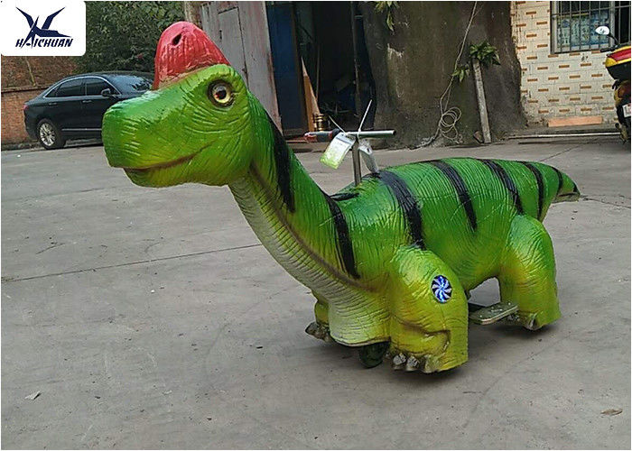 Children Rides Mechanical Ride On Animals Scooters For Dinosaur Park / Zoo